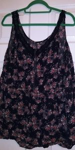 Torrid 3 Crocheted Back Babydoll Top